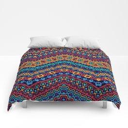 Colorful Boho Zig Zag Gypsy Comforters