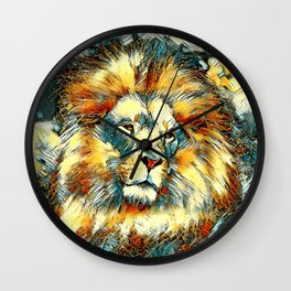 AnimalArt_Lion_20171005_by_JAMColorsSpecial Wall Clock