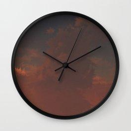 Pink Evening (Cloud series #6) Wall Clock
