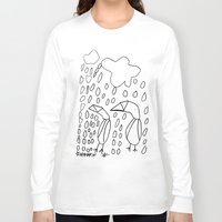 penguins Long Sleeve T-shirts featuring Penguins by Carina Malmgren