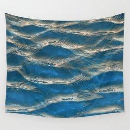 Aqua - blue abstract Wall Tapestry