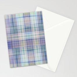 Scottish tartan pattern deconstructed Stationery Cards