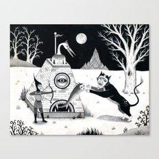 Night Attack Canvas Print
