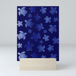 Sea Turtle Blues Mini Art Print