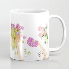 Flower Arranging Watercolor Painting Coffee Mug