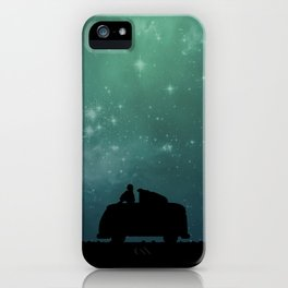 Looking Up at the Night Sky iPhone Case
