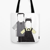 eames Tote Bags featuring Eames by Analy Diego