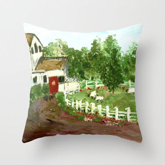 Ash Mill Farm Throw Pillow