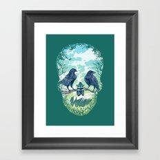 Nature's Skull (Green) Framed Art Print