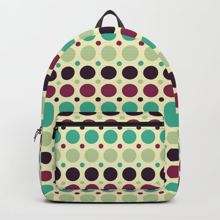 Peacock Polka Dot Pattern Backpack