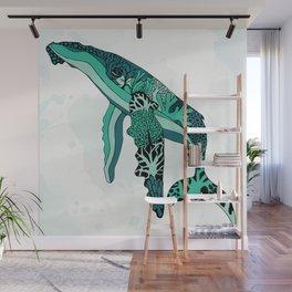 Coral Reef Humpback Whale Wall Mural