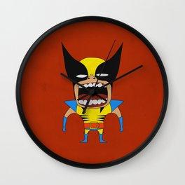 Screaming Wolverine Wall Clock