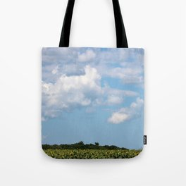Field of Sunflowers Horizontal Tote Bag