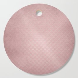 Grunge textured rose quartz small scallop pattern Cutting Board
