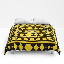Tribal Yellow Pattern Comforters