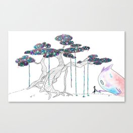 My monster and I Canvas Print