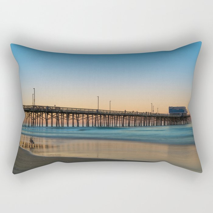 Solitary Seagull Rectangular Pillow
