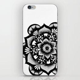 BW Floral Mandala iPhone Skin
