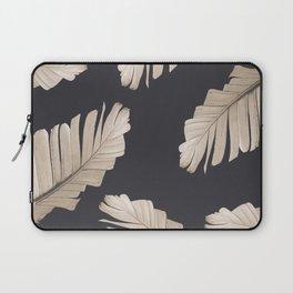 Sepia Banana Leaves Dream #2 #foliage #decor #art #society6 Laptop Sleeve
