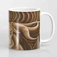 "taurus Mugs featuring ""Taurus"" by murdzak"