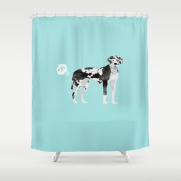 great dane funny farting dog breed gifts Shower Curtain