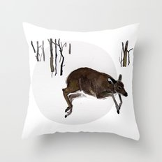 Odocoileus virginianus Throw Pillow