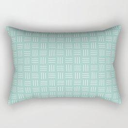 Basket Weave Mudcloth, Sea Glass Rectangular Pillow