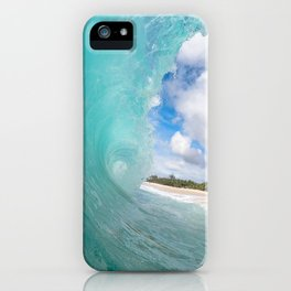 Turquoise Tropical Wave iPhone Case