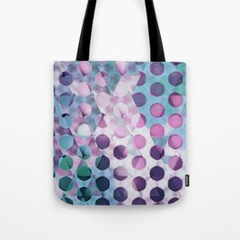 Circles on Triangles Lavenders Blues Tote Bag