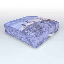 Winter in the forest Outdoor Floor Cushion