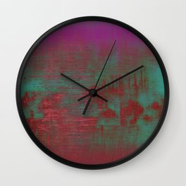 Spatial Factor 202 / Texture 30-10-16 Wall Clock