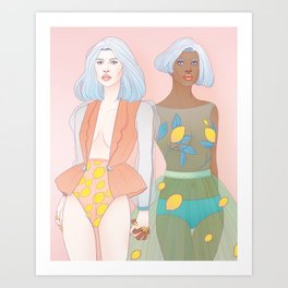Citron + Limon Art Print