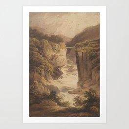 Mountain torrent, United Kingdom, by Francis Nicholson Art Print
