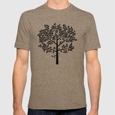 Tree Graphic 2 MEDIUM Tri-Coffee Mens Fitted Tee