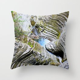 Curves Of Time Throw Pillow