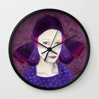 dana scully Wall Clocks featuring Dana by Sofia Bonati