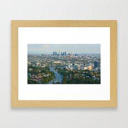 Los Angeles Skyline and Los Angeles Basin Panorama Framed Art Print