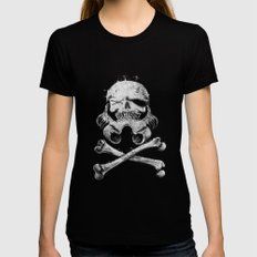 STORM PIRATE SMALL Black Womens Fitted Tee