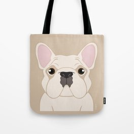 Frenchie - Cream Tote Bag