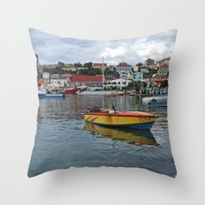 Grenada Carenage Harbor  Throw Pillow