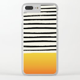 Sunset x Stripes Clear iPhone Case