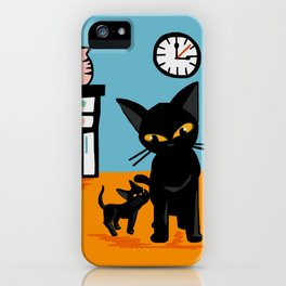 With a little boy iPhone Case