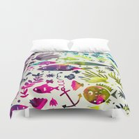 under the sea Duvet Covers featuring Under The Sea by 83 Oranges™