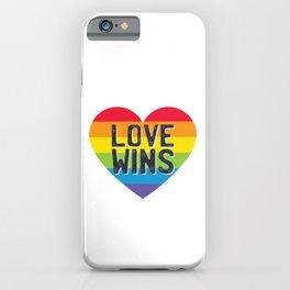 Pride LGBTQI - Love Wins iPhone Case