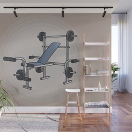 Weight bench bodybuilding Wall Mural