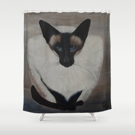 The Siamese Cat Shower Curtain