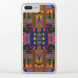 abstract bold Clear iPhone Case