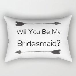 Bridesmaid Proposal Rectangular Pillow