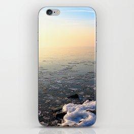 Sunset over Frozen Lake iPhone Skin
