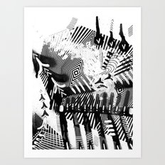 GRAY AND BLACK Art Print